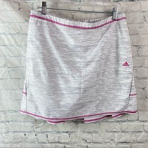 Adidas Climacool White Gray Pink Athletic Skort